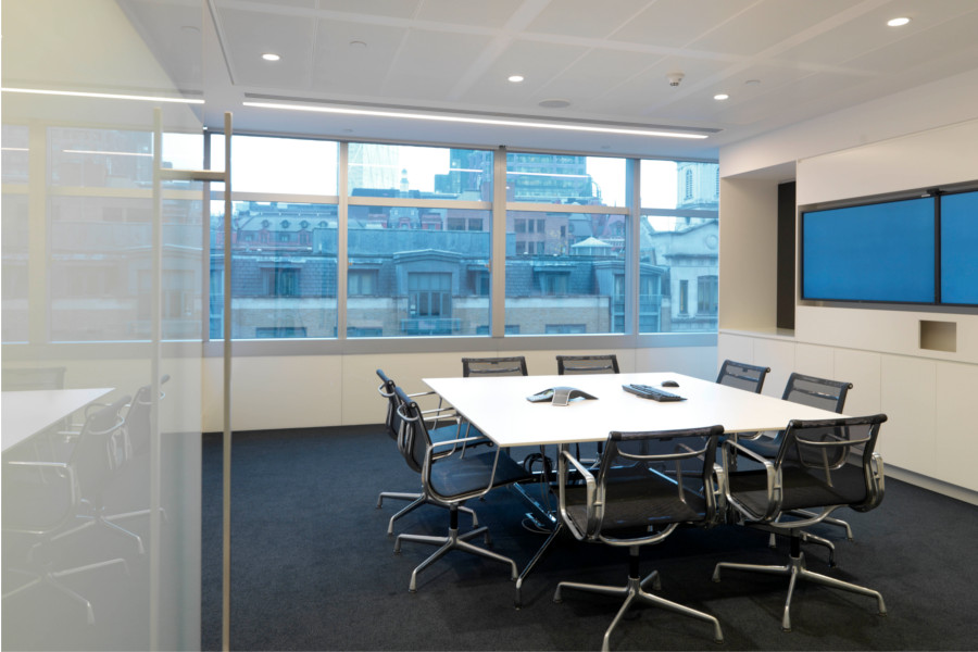 Fit Out From CAT A Of Level 2 99 Bishopsgate For Global Property Investment And Asset Management Company