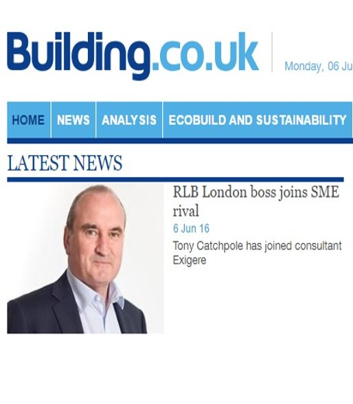 Tony Catchpole and exigere in the news!