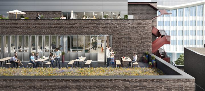An artist's impression of exigere's Nottingdale Village co-working project