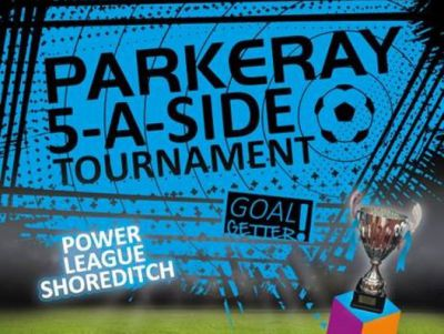 Poster for Parkeray 5-a-side tournament