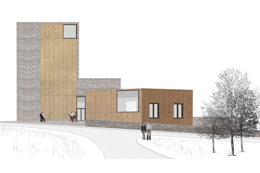 Secondary artistic impression of aspect of Rochester campus buildings extension