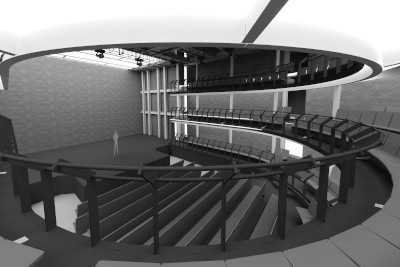 CGI of theatre at Consolidated Development's 5-9 Great Newport Street project in London.