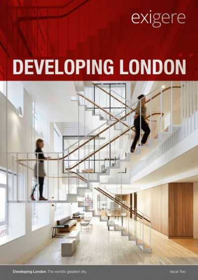 Front cover of Developing London leaflet