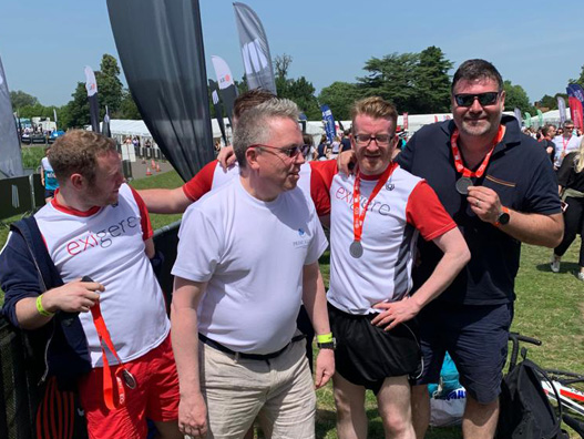 Exigere's Dan Fryer, John-Paul Donnelly, SImon Davis and Mike Roberts at the JLL Property Triathlon.